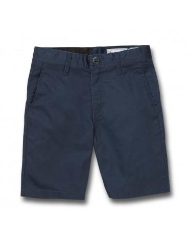 Volcom Frickin Modern Stretch Shorts Dark Navy