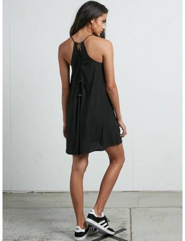 Volcom Cross Check Dress Black